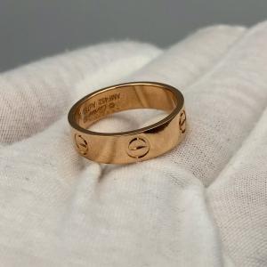 Cartier卡地亚宽版love57号戒指