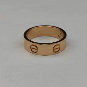 Cartier卡地亚玫瑰金戒指