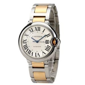 购于2012年卡地亚18k黄金精钢自动机械女表腕周160mm
