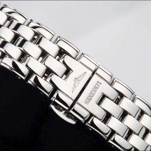 14年浪琴优雅系列精钢原镶时标钻自动机械女表 腕周160mm