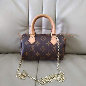 Louis Vuitton 老花 speedy mini女士单肩包斜挎包