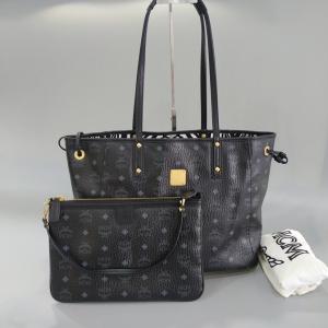 MCM 黑色子母双面购物袋女士单肩包