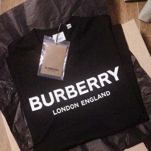 Burberry博柏利logo短袖T恤黑色大童14y即女码M