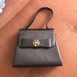 Moschino 莫斯奇诺七彩水晶镶嵌手提包
