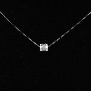19年宝格丽B.ZERO1系列18k白金饰以密镶钻石项链