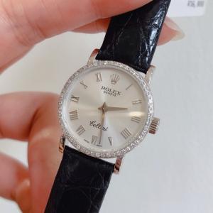 Rolex女士后镶钻石英腕表