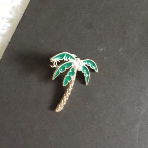 CHANEL香奈儿椰树珍珠女士胸针