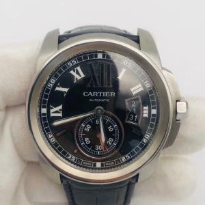 Cartier 卡地亚男士机械表95新卡地亚W7100041 男士腕表 自动机械 表径42mm 配件有盒子 证书 2017年12月购买 专柜售价52500