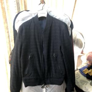 Burberry男士羊毛双面夹克外套