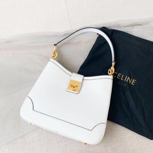 Celine赛琳白色马蹄单肩包腋下手提包