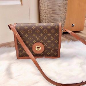 Louis Vuitton 路易威登女士红皮金扣圆环单肩包