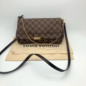 Louis Vuitton路易威登棕色棋盘格女士单肩包