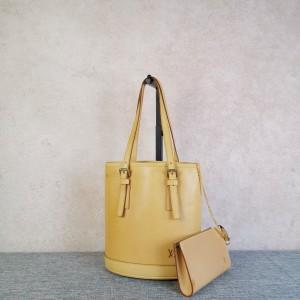 Louis Vuitton 路易·威登女士限量稀有全植鞣皮水桶子母单肩包