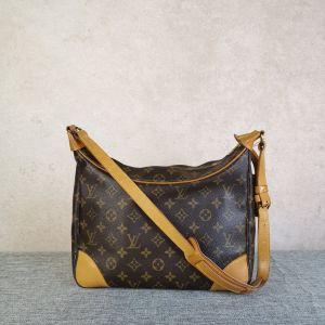 Louis Vuitton 路易·威登老花牛角包斜挎单肩包