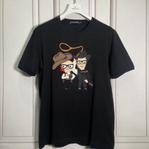 DOLCE&GABBANA 杜嘉班纳牛仔老王短袖T恤