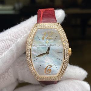 Vacheron Constantinvc江诗丹顿25040/000R玫瑰金后镶钻石英表