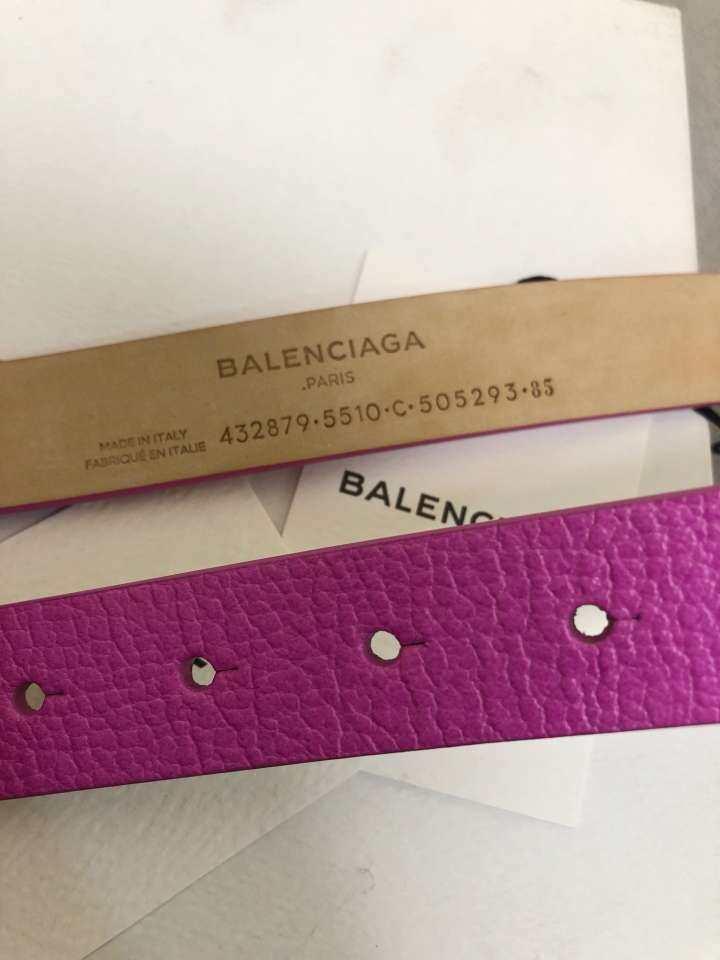 Balenciaga巴黎世家牛皮女士腰带/腰链