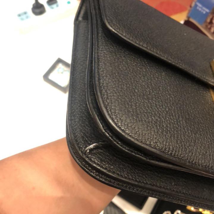 Celine赛琳女士单肩包黑色牛皮荔枝纹BOX