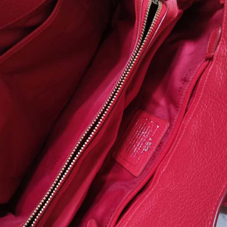 COACH蔻驰女士单肩包mercer35红色真皮牛皮斜挎包