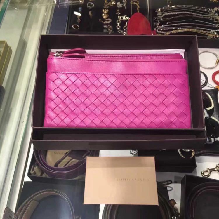 Bottega Veneta葆蝶家女士钱包专柜经典款 羊皮 双层设计