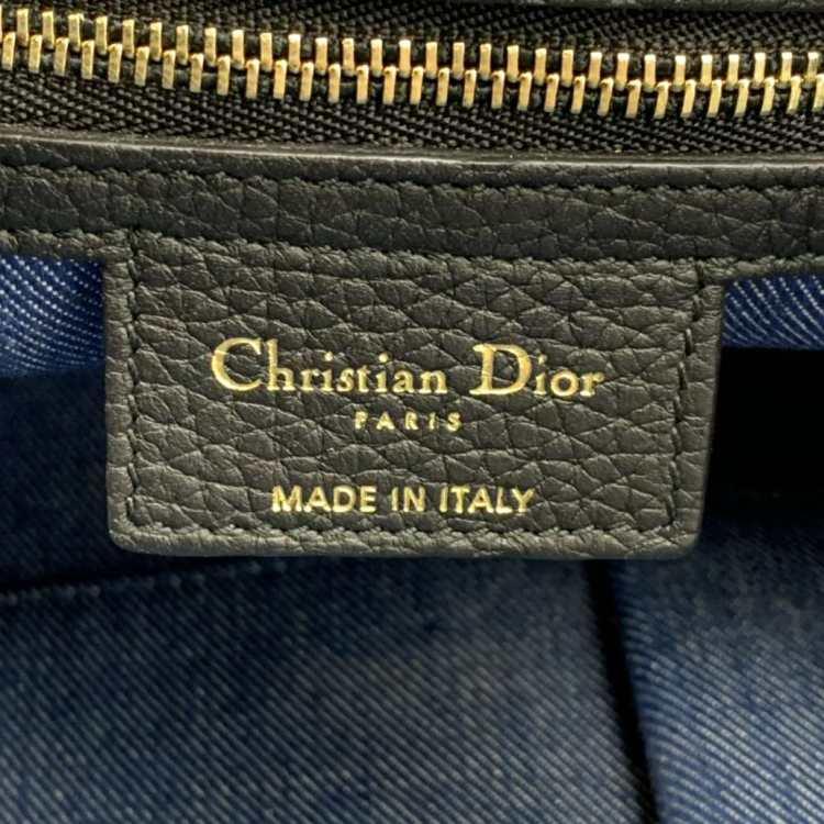 Dior迪奥手提包牛仔拼色徽章限量款
