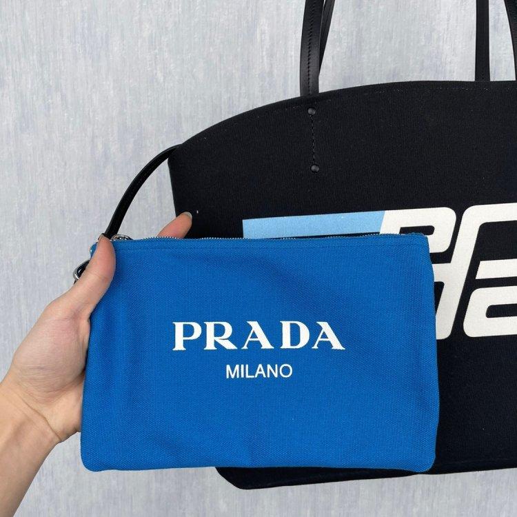 PRADA普拉达手提包prada  子母托特包 Prada CANVAS LOGO子母托特包材质