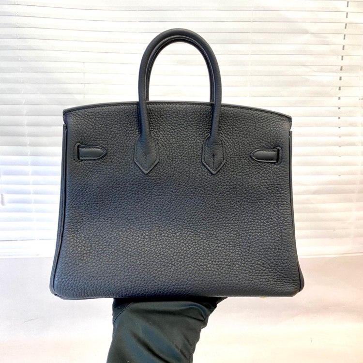Hermès爱马仕女士手提包Birkin25黑金