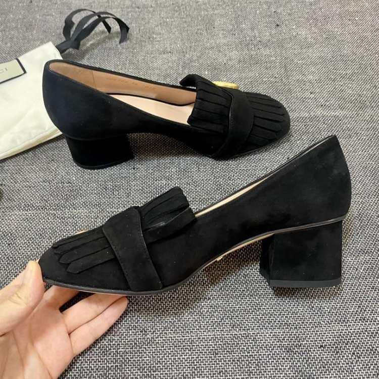 GUCCI古驰女士低/中跟鞋中跟鞋