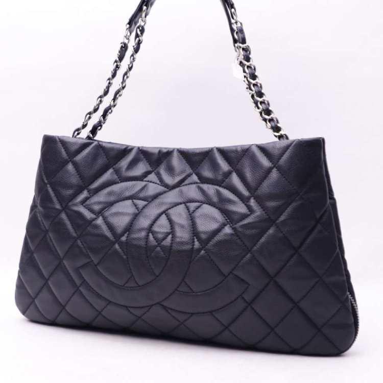 CHANEL香奈儿女士手提包黑色链条包