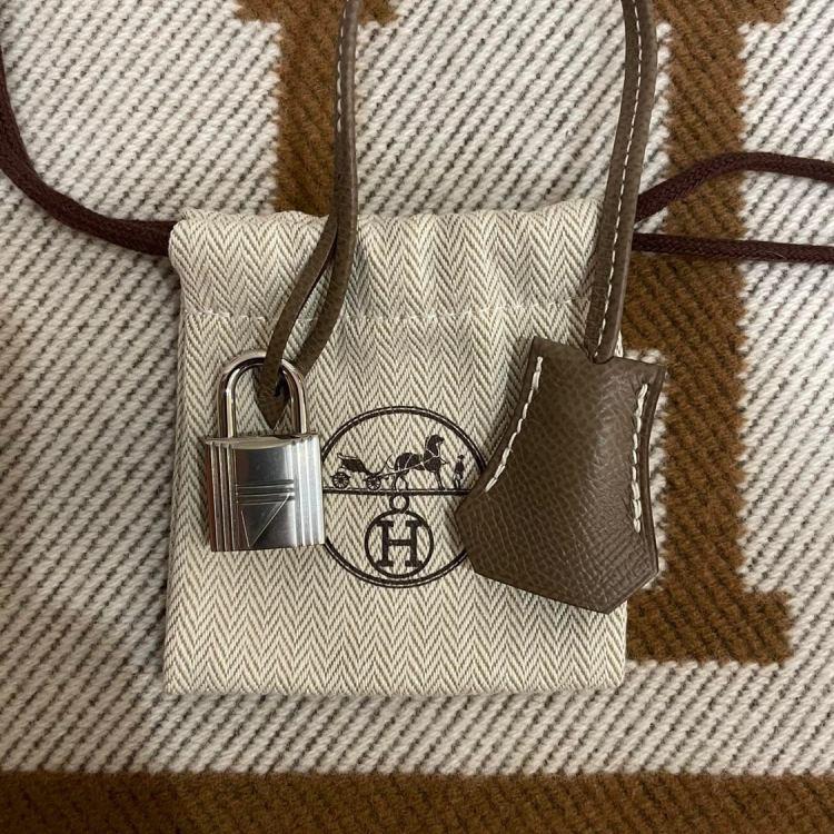 Hermès爱马仕女士手提包Birkin 30 大象灰银扣